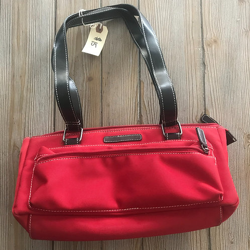 Angel Red Canvas Purse