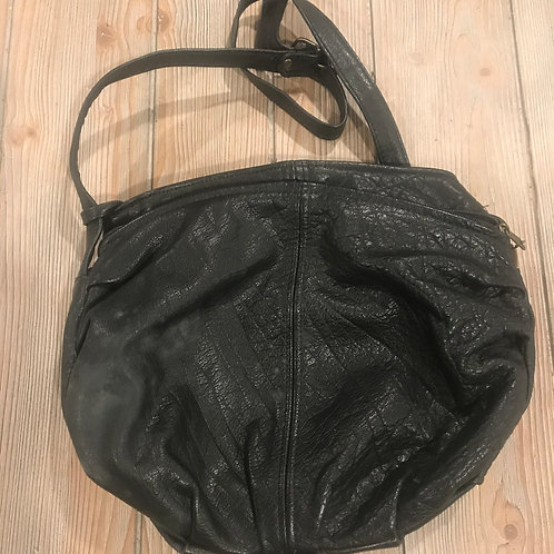 Black Leather Purse - Made in USA
