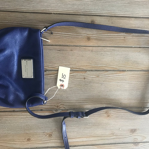 Blue vinyl Marc Jacobs purse