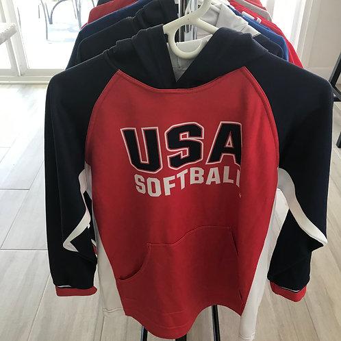 USA Softball Hoodie - Adult Small