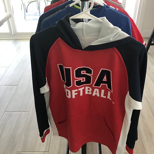 USA Softball Hoodie - Adult Med