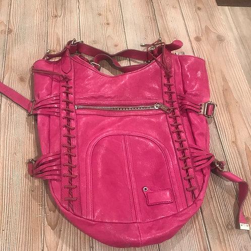 Large Magenta Leather Purse