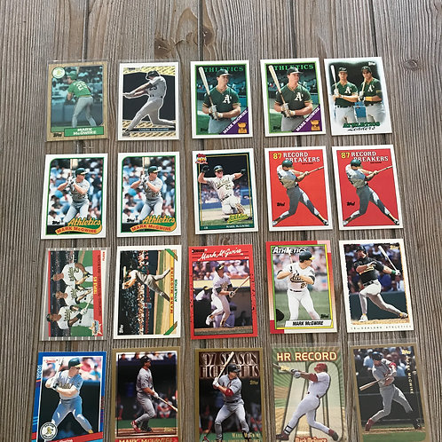 Lot of Mark McGwire Cards