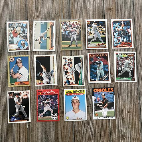 Lot of Cal Ripken Jr Cards