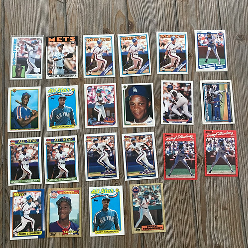 Lot of Darryl Strawberry Cards