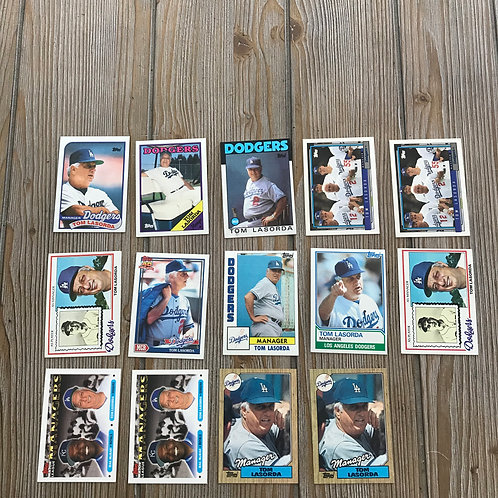 Lot of Tommy Lasorda Cards