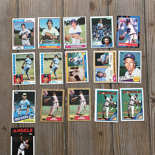 Lot of Don Sutton Cards