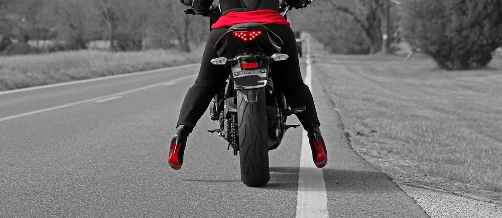 Red Bottom Biker
