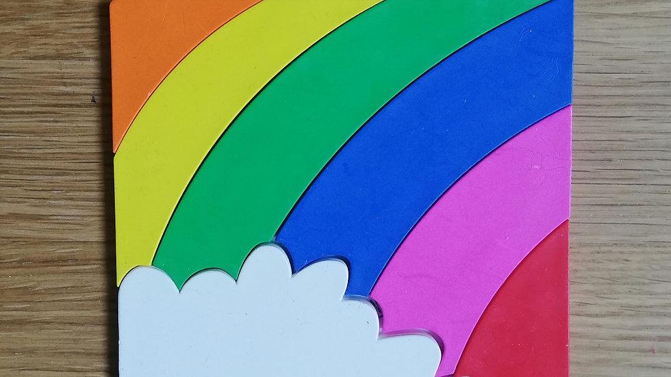 Rainbow Puzzle Crayons