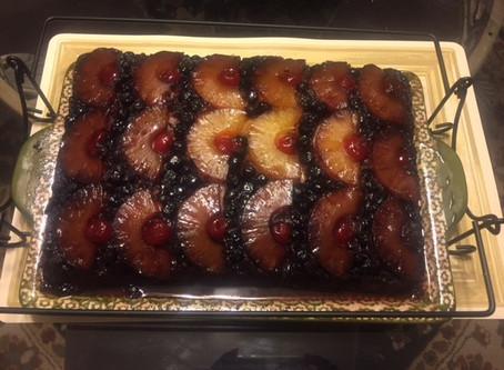 Blueberry Pineapple Upside Down Cake