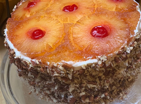 Layered Pineapple Upside Down Cake