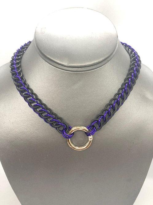3-1 Half Persian in Black Rubber and Purple