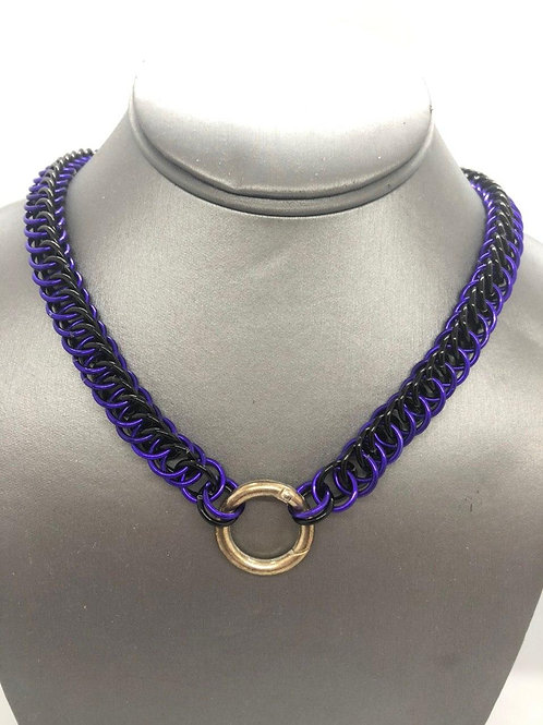 4-1 Half Persian in Black and Purple Anodized Aluminum