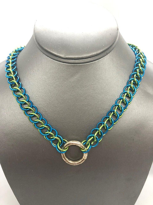 3-1 Half Persian in Lime and Medium Blue Anodized Aluminum