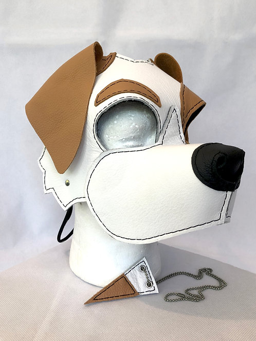 Brown and White Mutt Puppy Hood