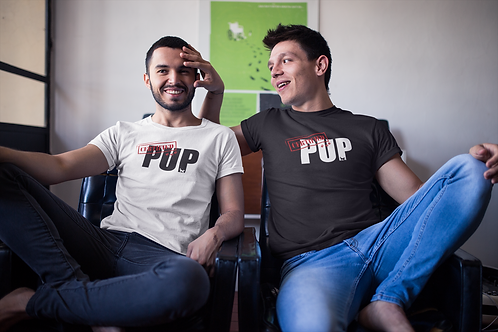 "CERTIFIED Pup T-Shirt - (The word ""Pup"" in White)"