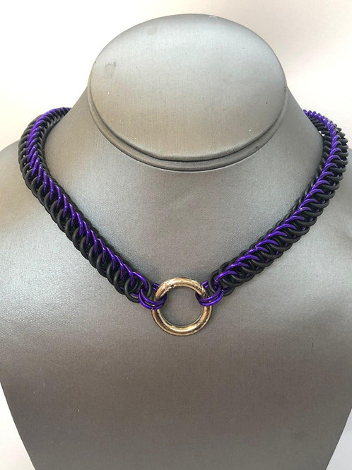 4-1 Half Persian in Black Rubber and Purple Anodized Aluminum