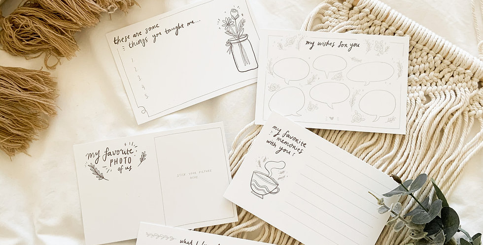 Journal Cards: Custom Set for Gifts