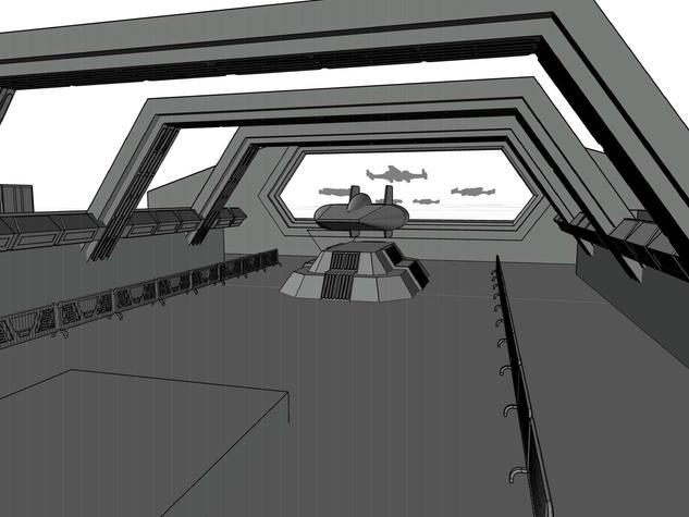 Star Wars AutoCAD Rendering