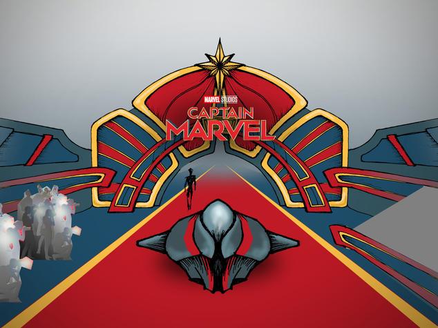Captain Marvel Sketch Mash-up