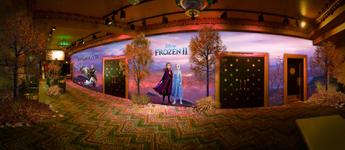 Frozen 2 Mural El Capitan Rendering