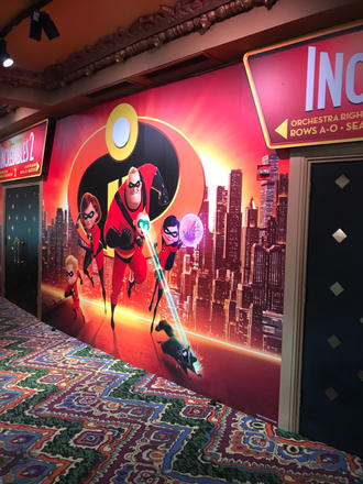 Pixar Incredibles 2 Mural
