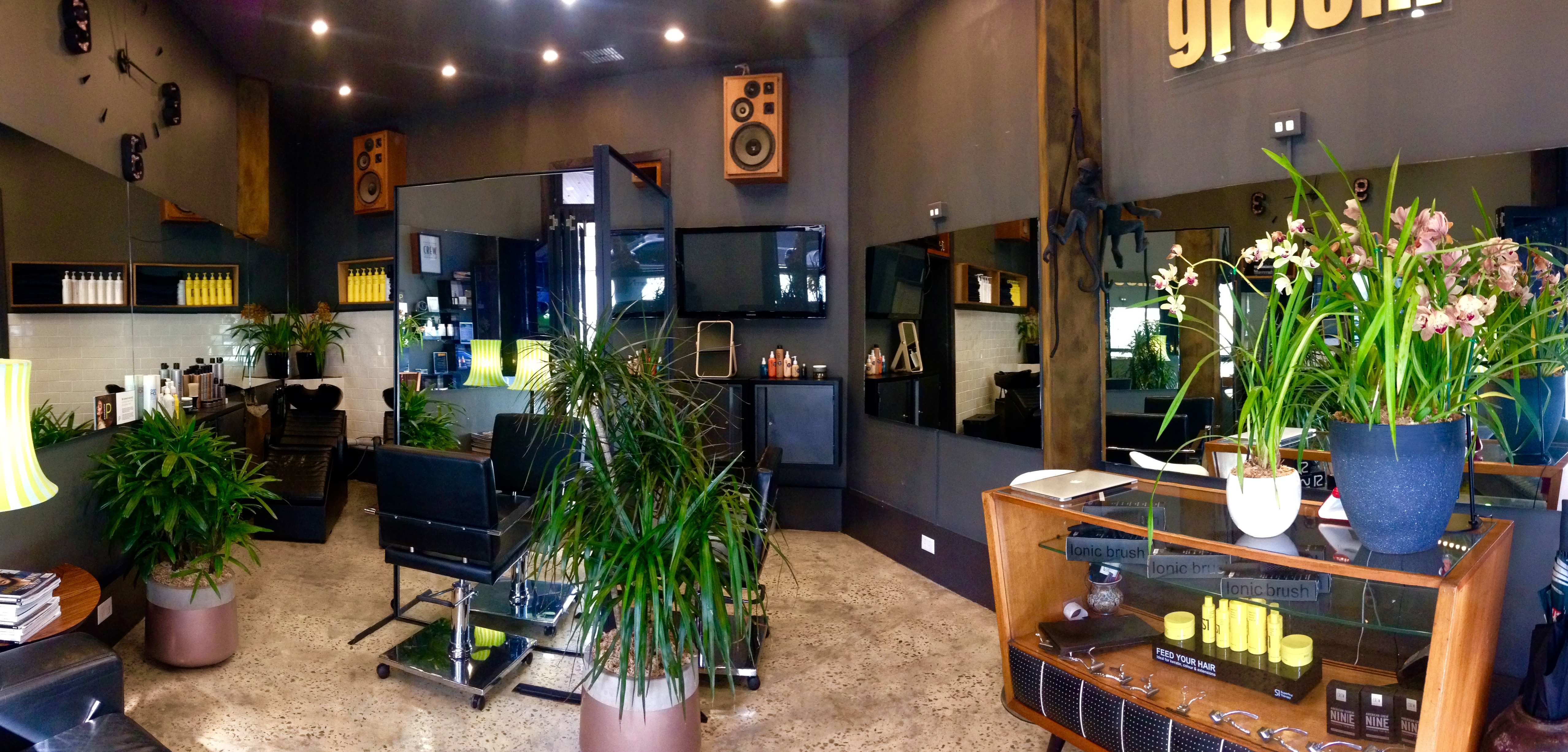 Wide angle view of Salon