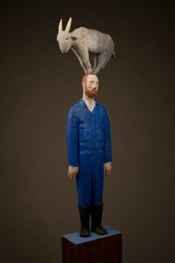 """""""Man with Goat"""", 2014"""