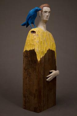 """Man with Blue Bird"", 2014"