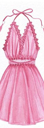 Watercolor pink dress