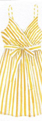 Watercolor sun dress