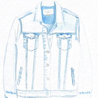 Watercolor denim jacket