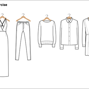 Garment flats exercise