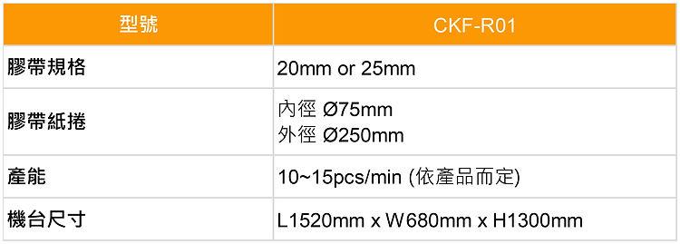 膠帶封罐機 Taps Sealing Machine-CKF-R01-規格表-中