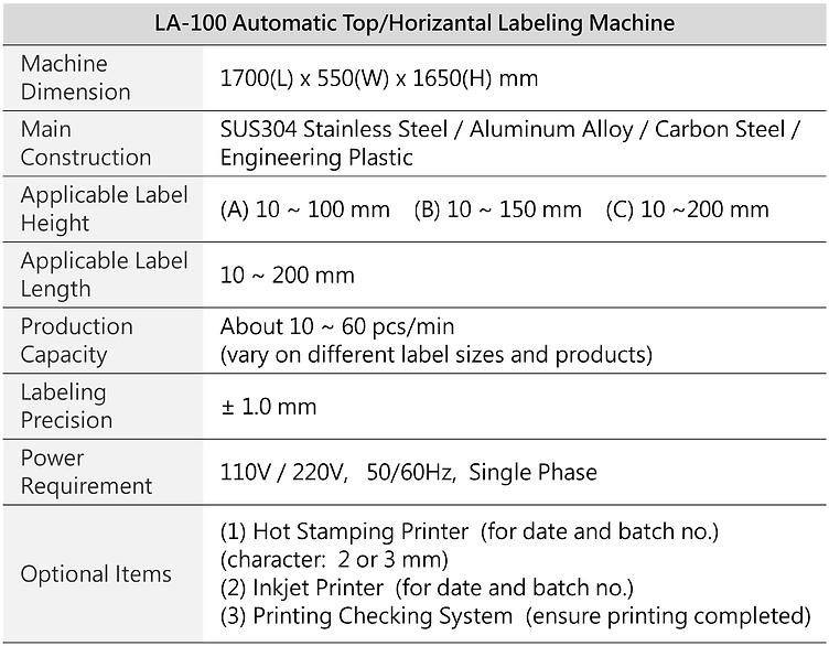 Automatic Top/Horizantal Labeling Machine LA-100