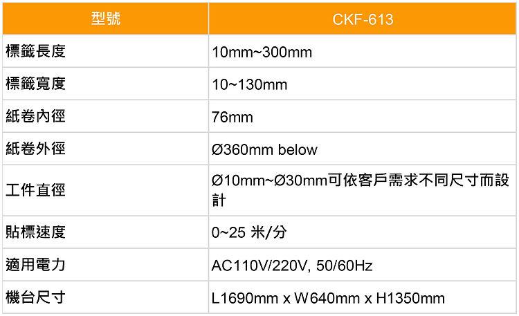 貼標機 Labeling Machine-CKF613-規格表-中-01.jpg