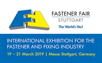 2019 Germany Fastener Fair Stuttgart 展示会に出展します