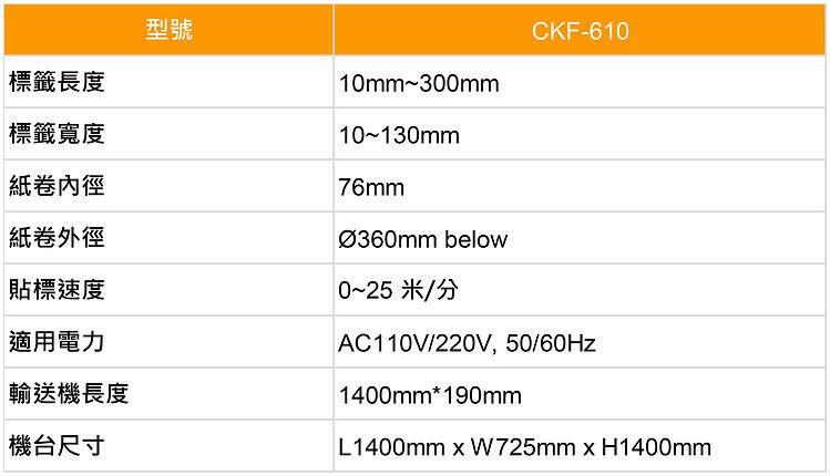 貼標機 Labeling Machine-CKF610-規格表-中-01.jpg