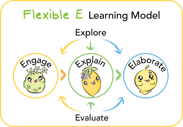 Flexible E Simple Diagram Rounded Square