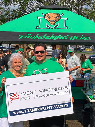 TBAF's Field Team Delivers Message of Election Security to Marshall's Homecoming Crowd in Huntington