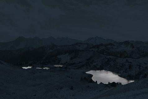 Les trois lacs de Bastan en monochrome, 2020