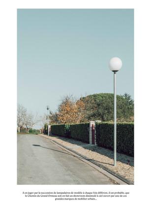 La rue des lampadaires