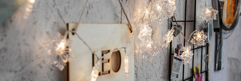 שרשרת תאורה ״פתיתי שלג״