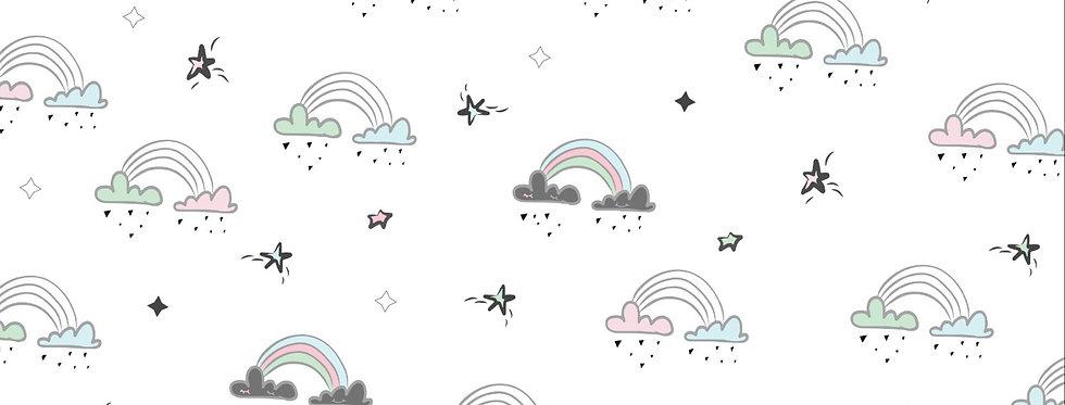 """טפט לקיר - """"Rainbows"""" צבעוני"""