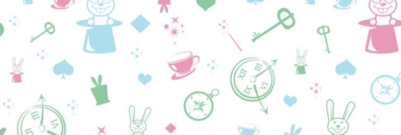 """טפט לקיר - """"Wonderland"""" צבעוני"""