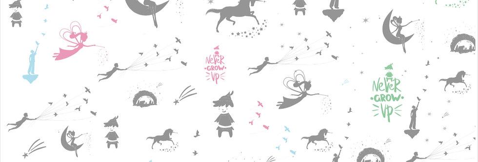 """טפט לקיר - """"Neverland"""" צבעוני"""