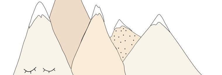 מדבקת קיר- ״נורדיק מאונטיין״ דגם קרים דה לה קרים