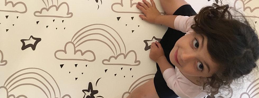 """שטיחון PVC - דגם ״תנונ'ז גריי ריינבואו"""""""