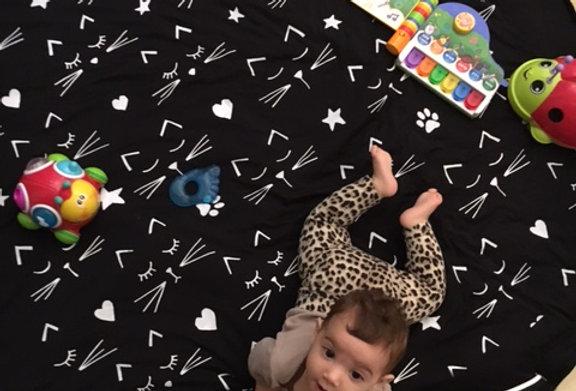 שק אכסון למשחקים, משטח משחק לילדים, שמיכת משחק לתינוקות
