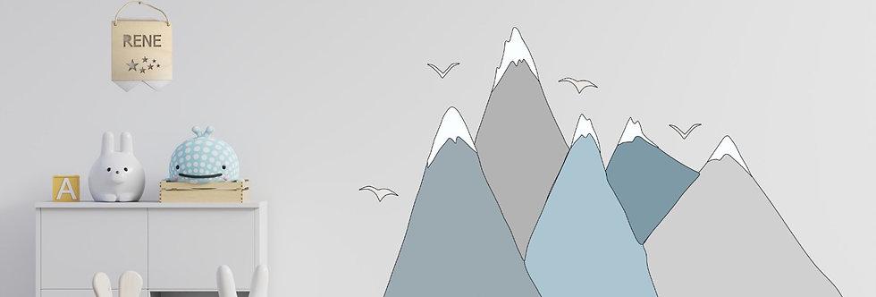 מדבקת קיר- ״נורדיק מאונטיין״ דגם אייסברג